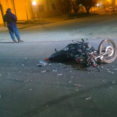 Grave accidente de moto