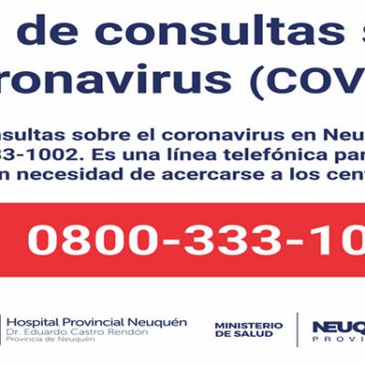 Coronavirus: nuevo comunicado del Comité de Emergencia Provincial