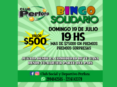 Pérfora lanzó un bingo virtual