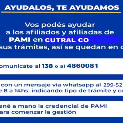 Pami recuerda sus vías de comunicación