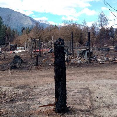 Falleció la mujer que sufrió quemaduras en la comarca andina y no quedan desaparecidos