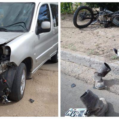 Un hombre grave tras accidente en Moto
