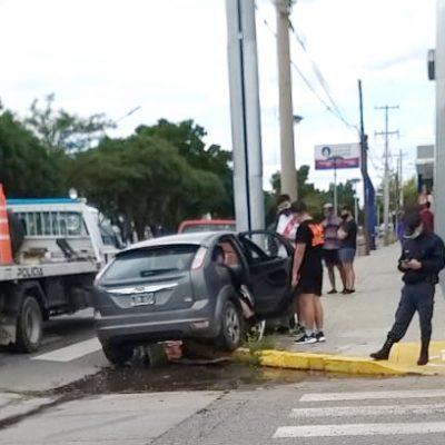 Fuerte choque en plena avenida Olascoaga