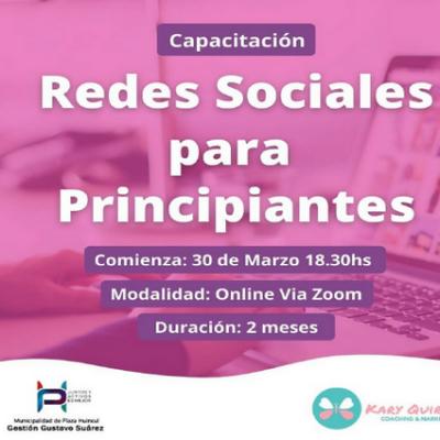 """Huincul brinda capacitación en """"Redes sociales para principiantes"""""""