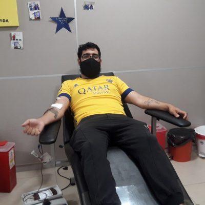 En pandemia, la Peña Boquense realizó otra donación de sangre