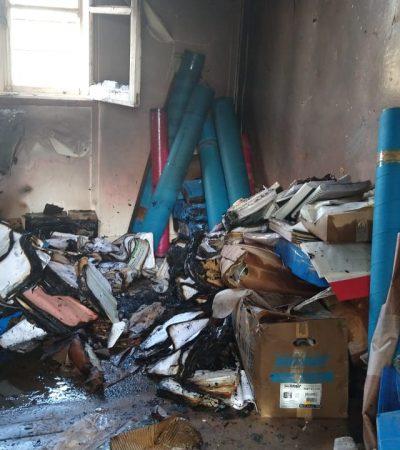 Incendio en salón de ex Ypefianos: Se perdieron documentos históricos