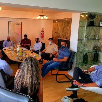 Suárez se reunió con cámaras empresariales por el desarrollo del parque industrial de Plaza Huincul
