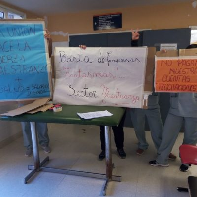 Trabajadores de Maestranza aún no cobran sus sueldos