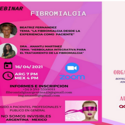 Fibromialgia: charla virtual sobre alimentación y tratamiento alternativo