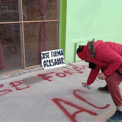 Escrachan el Centro de Arte Dante Baiocco