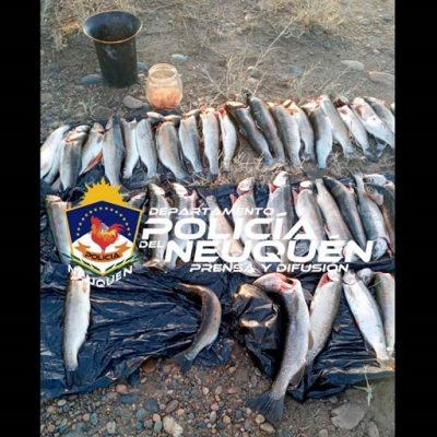 Detenidos con 46 pescados