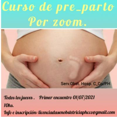 Obstetricia del hospital invita a una interesante actividad