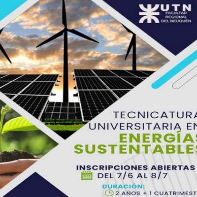 La UTN FRN abrió la inscripción para la Tecnicatura Universitaria en Energías Sustentables