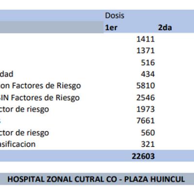 A poco de alcanzar los 30 mil vacunados en la comarca