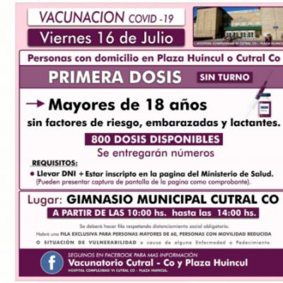 Vacunas Covid: llego el turno para mayores de 18 años