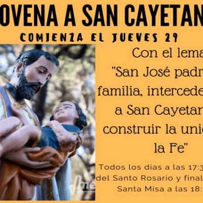 Comienza la novena a San Cayetano
