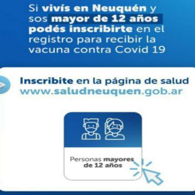 ¡Atención mayores de 12 años! ya pueden inscribirse para recibir la vacuna