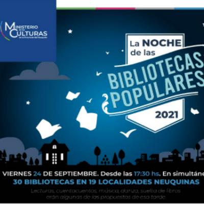 """Se acerca """"La Noche de las Bibliotecas Populares"""""""