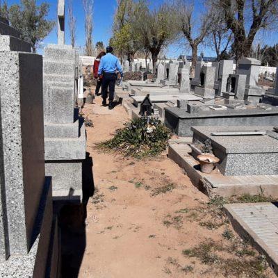 Una vez más, daños y robo en cementerio de Huincul