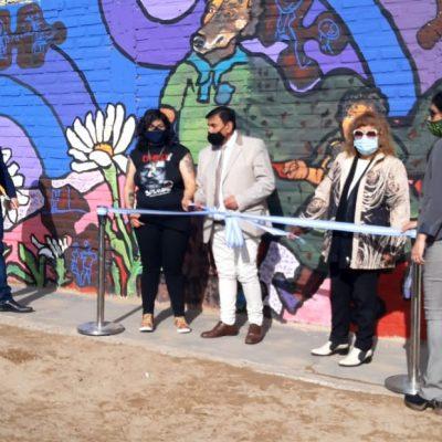 El CoMunAF inauguró mural en barrio General Belgrano