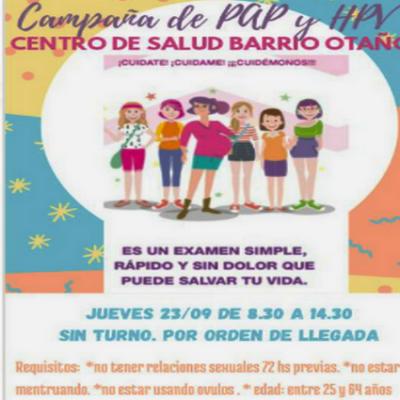 Habrá campaña de PAP y HPV en el Otaño