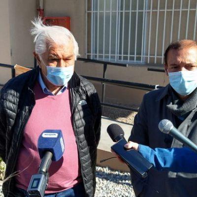 Pereyra participó de la inauguración de una ampliación en Sanatorio Huincul