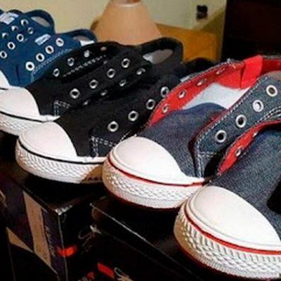 Juntan zapatillas para que los chicos puedan ir a la escuela