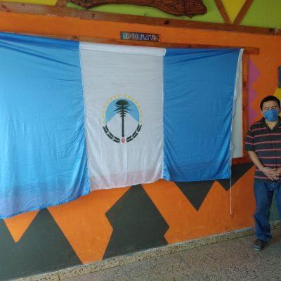 """Bandera de ceremonia para el Campo de Jineteadas """"El Indio"""""""