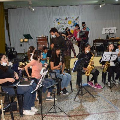 La Banda Sinfónica llegó a la Escuela N°159